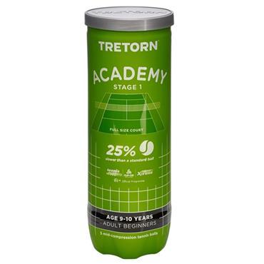 Tretorn Academy Stage 1 Tennis Balls 3-Pack Green