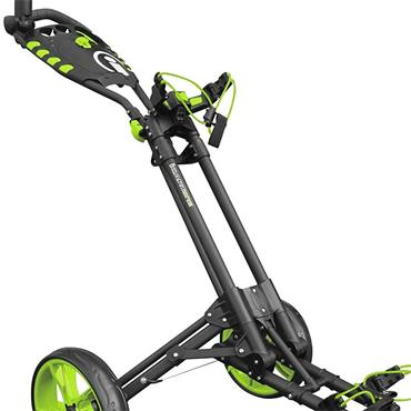 Masters Golf iCart One 3 Wheel Push Trolley  Grey Green