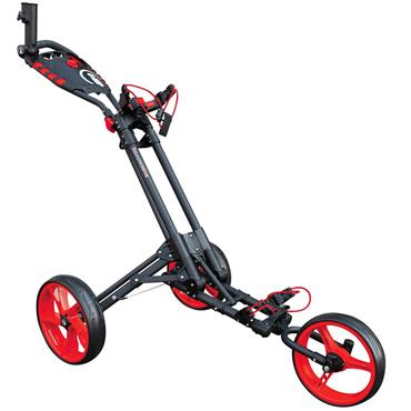 Masters Golf iCart One 3 Wheel Push Trolley  Grey/Red