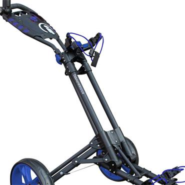 Masters Golf iCart One 3 Wheel Push Trolley  Grey - Blue