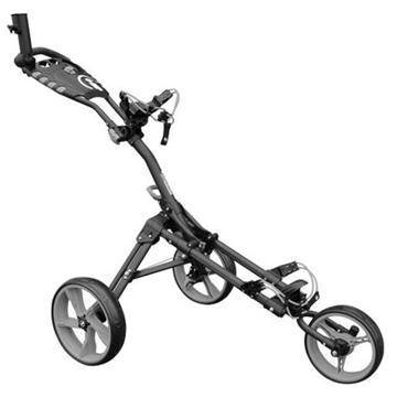Masters Golf iCart One 3 Wheel Push Trolley  Black-Grey