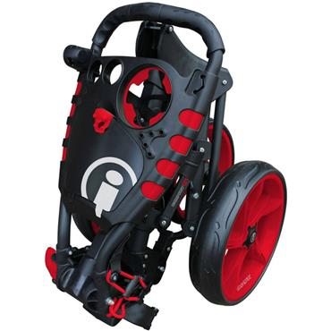 Masters Golf iCart Compact Evo Push Trolley  Grey/Red