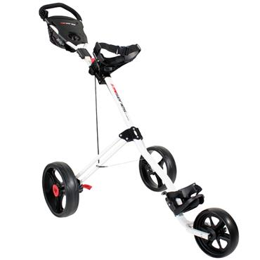 Masters Golf 5 Series 3 Wheel Push Trolley  White