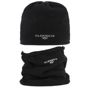 41c6f87df5c ... Glenmuir Unisex Hat and Neck Warmer Gift Set Black Grey