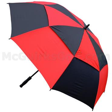 Masters Golf Gust Resist Umbrella  Black/Red