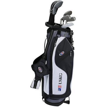 "U.S. Kids Junior 57"" 5-Club WT-15u Stand Bag Set Right Hand Black/White/Grey"