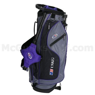 "U.S. Kids UL54 Stand Bag WT-15u 27.5"" Junior  Grey - Purple"