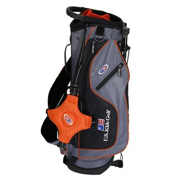 """U.S. Kids Junior 51"""" UL51 Stand Bag  Grey Orange"""