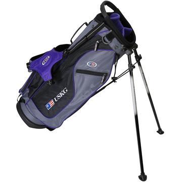 """U.S. Kids Junior 54"""" UL54 Stand Bag  Grey Purple"""