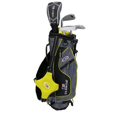 "U.S. Kids Junior 42"" 4-Club Ultralight Set Right Hand Grey/Yellow"