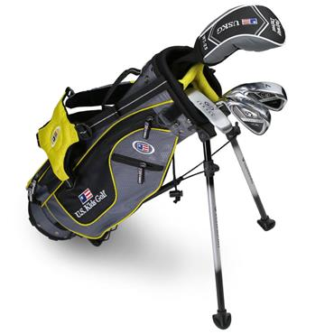 "U.S. Kids Junior 42"" 4-Club Ultralight Set Left Hand Grey - Yellow"