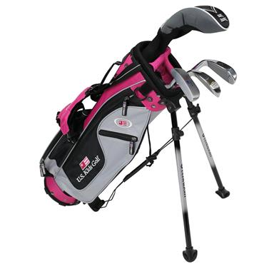 "U.S. Kids Junior 42"" 4-Club Ultralight Set Right Hand Silver Pink"