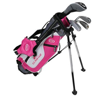 "U.S. Kids Junior 45"" 4-Club Ultralight Set Right Hand Pink/White/Grey"