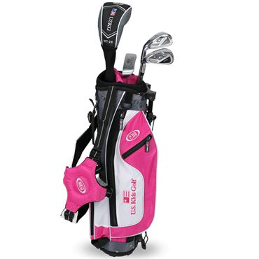 "U.S. Kids Junior 45"" 4-Club Ultralight Set Left Hand Pink - Silver"