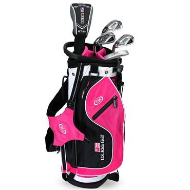 "U.S. Kids Junior 48"" 5-Club Ultralight Set Left Hand Black - Pink"