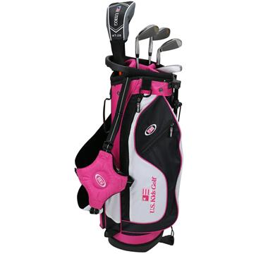 "U.S. Kids Junior 51"" 5-Club Stand Bag Set Right Hand Black/Pink"