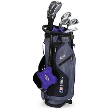 "U.S. Kids Junior 54"" 5-Club Ultralight Set Left Hand Grey Purple"