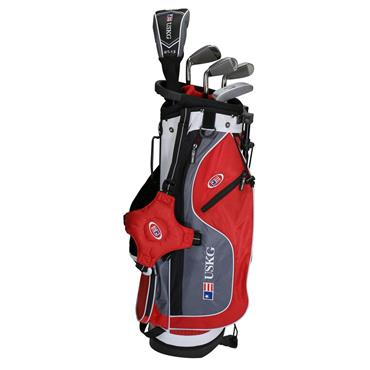 "U.S. Kids Junior 54"" 5-Club Ultralight Set Right Hand Red Grey White"