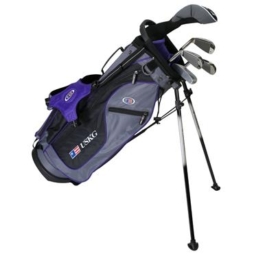 "U.S. Kids Junior 54"" 5-Club Ultralight Set Right Hand Grey Purple"