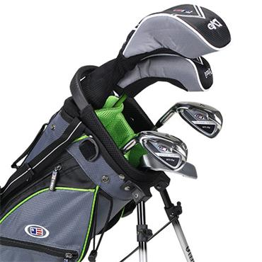 "U.S. Kids Junior 57"" 5-Club WT-15u Stand Bag Set Left Hand Grey Green"