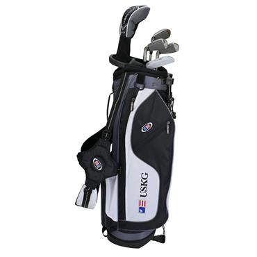 "U.S. Kids Junior 57"" 5-Club WT-15u Stand Bag Set Right Hand Black White Grey"