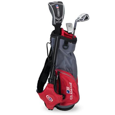 "U.S. Kids Junior 39"" 3-Club Ultralight Set Left Hand Grey/Red"