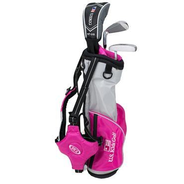 "U.S. Kids Junior 39"" 3-Club Ultralight Set Right Hand Pink - Silver"