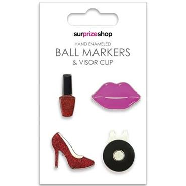 Surprizeshop Ball Marker & Visor Clip Set  Glamour