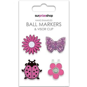 Surprizeshop Ball Marker & Visor Clip Set  Pink