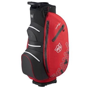Wilson Dry Tech II Cart Bag Black - Red - White