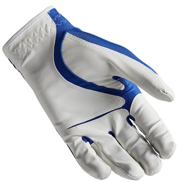 Wilson Boys Fit All Glove  White Blue Grey