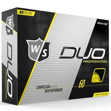 Wilson Duo Pro Golf Balls Dozen  Yellow