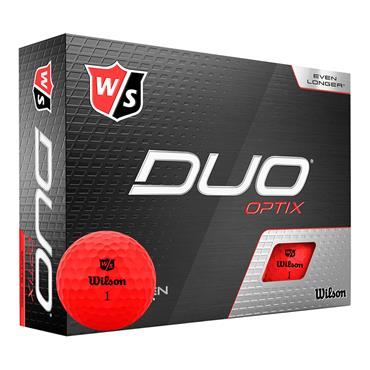 Wilson Duo Optix 12 Ball  Red