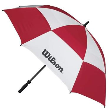 "Wilson 62"" Staff Double Canopy Umbrella  Red/White"