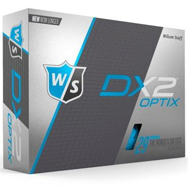 Wilson DX2 Optix Soft Golf Balls Dozen  Optic Blue