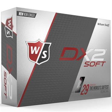 Wilson DX2 Soft Golf Balls Dozen  White