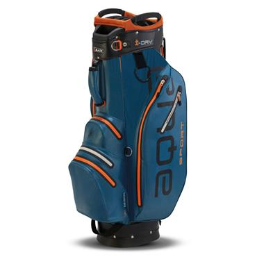 Big Max Waterproof Aqua Sport 2 Cart Bag Petrol - Black - Orange