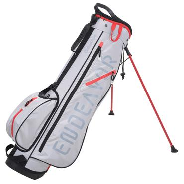 FastFold Endeavour Stand Bag  Grey/Red