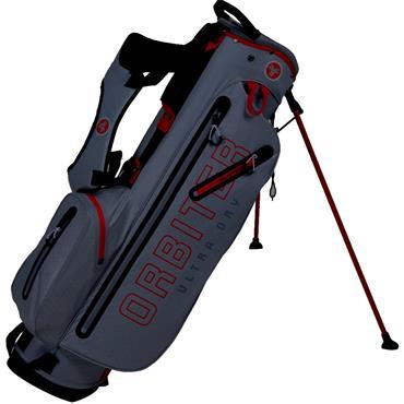 FastFold Orbiter Waterproof Stand Bag  Grey/Red