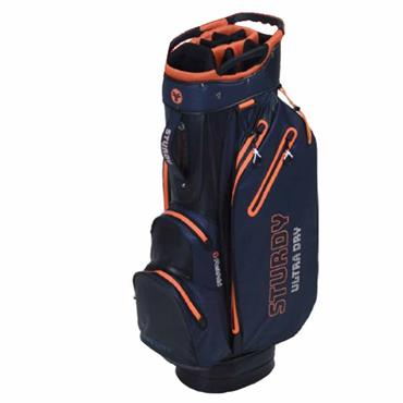 FastFold Sturdy Waterproof Cart Bag  Navy Grey Orange