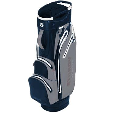 FastFold Sturdy Waterproof Cart Bag  Navy Grey White