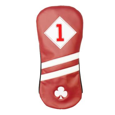Shamrock Faux Leather Driver Headcover  Red