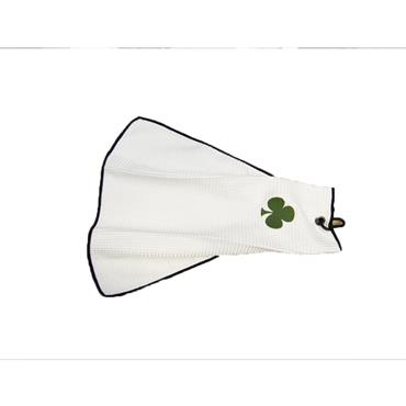 Shamrock Micro Velour Towel  White