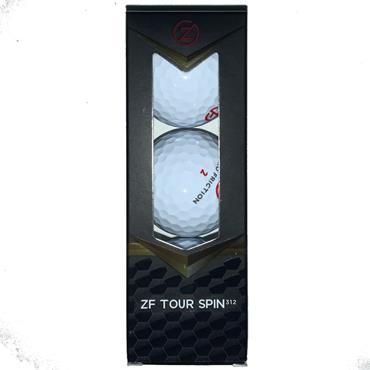 Zero Friction Tour Spin 312 Golf Balls Dozen White