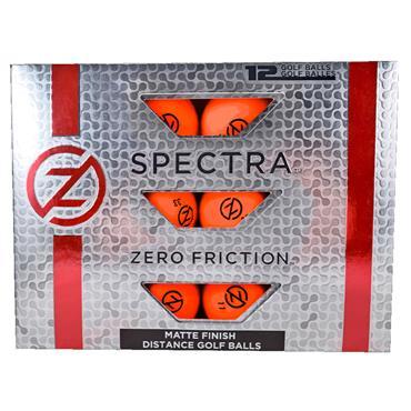 Zero Friction Spectra Matte Finish Distance Balls Dozen Orange