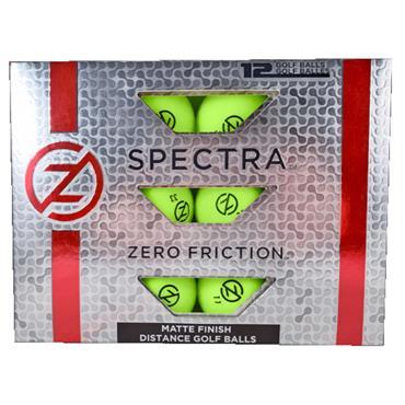 Zero Friction Spectra Matte Finish Distance Balls Dozen Lime