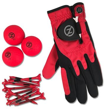 Zero Friction Supertube [LH Glove/3 Balls/10 Tees] Men Neon Red