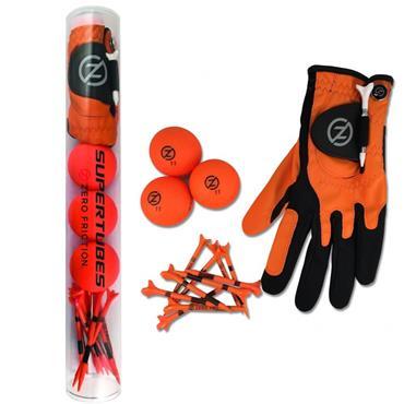 Zero Friction Supertube [LH Glove/3 Balls/10 Tees] Men Neon Orange