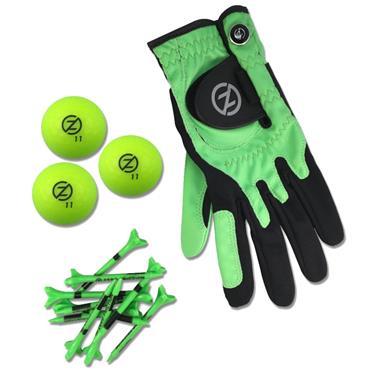 Zero Friction Supertube [LH Glove/3 Balls/10 Tees] Ladies Neon Lime