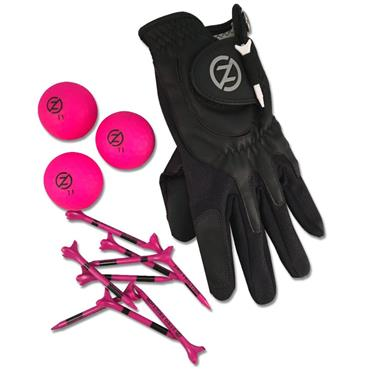 Zero Friction Supertube [LH Glove/3 Balls/10 Tees] Ladies Neon Fuchsia